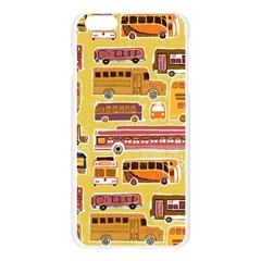 Bus Cartoons Logo Apple Seamless iPhone 6 Plus/6S Plus Case (Transparent)