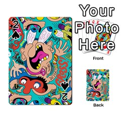 Cartoons Funny Face Patten Playing Cards 54 Designs