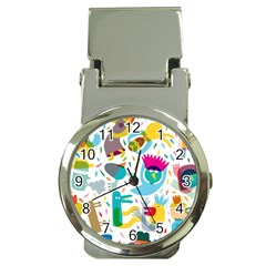 Colorful Cartoon Funny People Money Clip Watches