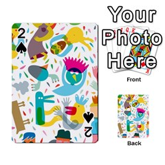 Colorful Cartoon Funny People Playing Cards 54 Designs