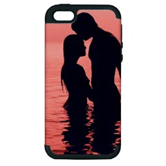 Couple In Love Beach Apple iPhone 5 Hardshell Case (PC+Silicone)
