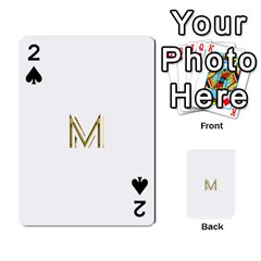 M Monogram Initial Letter M Golden Chic Stylish Typography Gold Playing Cards 54 Designs