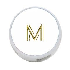 M Monogram Initial Letter M Golden Chic Stylish Typography Gold 4-Port USB Hub (One Side)