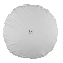 M Monogram Initial Letter M Golden Chic Stylish Typography Gold Large 18  Premium Round Cushions