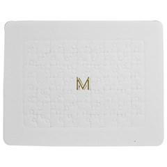 M Monogram Initial Letter M Golden Chic Stylish Typography Gold Jigsaw Puzzle Photo Stand (rectangular)