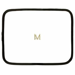 M Monogram Initial Letter M Golden Chic Stylish Typography Gold Netbook Case (Large)