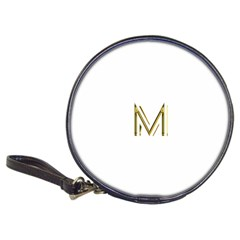 M Monogram Initial Letter M Golden Chic Stylish Typography Gold Classic 20-CD Wallets