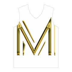 M Monogram Initial Letter M Golden Chic Stylish Typography Gold Men s Basketball Tank Top