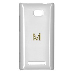 M Monogram Initial Letter M Golden Chic Stylish Typography Gold HTC 8X