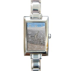 Pebble Beach Photography Ocean Nature Rectangle Italian Charm Watch