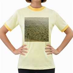 Pebble Beach Photography Ocean Nature Women s Fitted Ringer T-Shirts