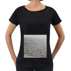 Pebble Beach Photography Ocean Nature Women s Loose-Fit T-Shirt (Black)
