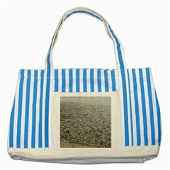 Pebble Beach Photography Ocean Nature Striped Blue Tote Bag