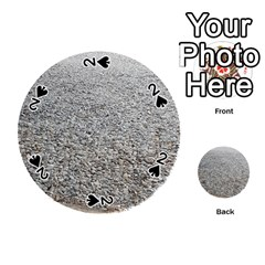 Pebble Beach Photography Ocean Nature Playing Cards 54 (Round)