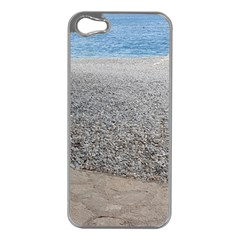 Pebble Beach Photography Ocean Nature Apple iPhone 5 Case (Silver)