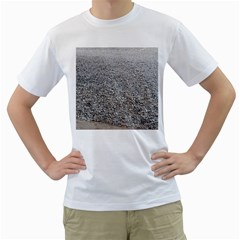 Pebble Beach Photography Ocean Nature Men s T-Shirt (White)
