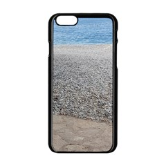 Pebble Beach Photography Ocean Nature Apple iPhone 6/6S Black Enamel Case