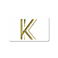 Monogrammed Monogram Initial Letter K Gold Chic Stylish Elegant Typography Magnet (Name Card)