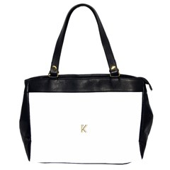 Monogrammed Monogram Initial Letter K Gold Chic Stylish Elegant Typography Office Handbags (2 Sides)
