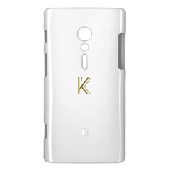 Monogrammed Monogram Initial Letter K Gold Chic Stylish Elegant Typography Sony Xperia ion