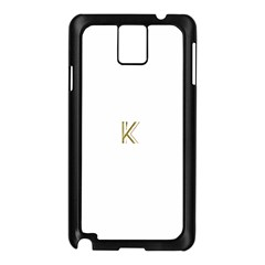 Monogrammed Monogram Initial Letter K Gold Chic Stylish Elegant Typography Samsung Galaxy Note 3 N9005 Case (Black)
