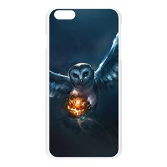 Owl And Fire Ball Apple Seamless iPhone 6 Plus/6S Plus Case (Transparent)