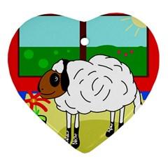 Urban sheep Ornament (Heart)