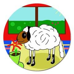 Urban sheep Magnet 5  (Round)