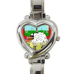 Urban sheep Heart Italian Charm Watch