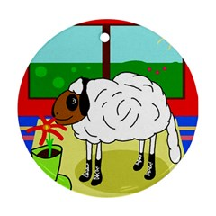 Urban sheep Round Ornament (Two Sides)