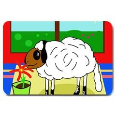 Urban sheep Large Doormat