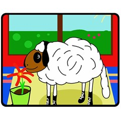 Urban sheep Fleece Blanket (Medium)