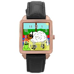 Urban sheep Rose Gold Leather Watch