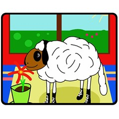 Urban sheep Double Sided Fleece Blanket (Medium)