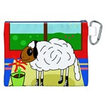 Urban sheep Canvas Cosmetic Bag (XXL) Back