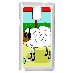 Urban sheep Samsung Galaxy Note 4 Case (White)