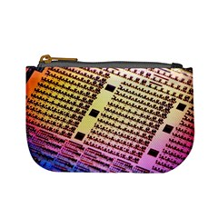 Optics Electronics Machine Technology Circuit Electronic Computer Technics Detail Psychedelic Abstract Mini Coin Purses