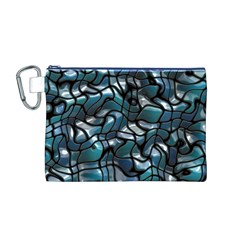 Old Spiderwebs On An Abstract Glass Canvas Cosmetic Bag (M)
