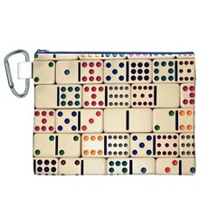 Old Domino Stones Canvas Cosmetic Bag (XL)