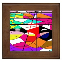 Abstract waves Framed Tiles