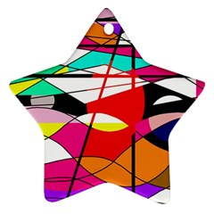 Abstract waves Ornament (Star)
