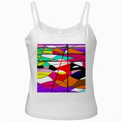 Abstract waves White Spaghetti Tank