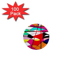 Abstract waves 1  Mini Magnets (100 pack)