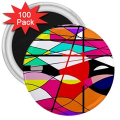 Abstract waves 3  Magnets (100 pack)
