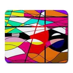 Abstract waves Large Mousepads