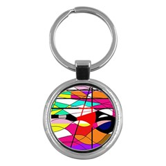 Abstract waves Key Chains (Round)