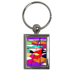 Abstract waves Key Chains (Rectangle)