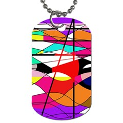 Abstract waves Dog Tag (One Side)