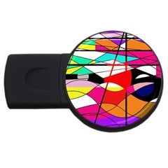 Abstract waves USB Flash Drive Round (1 GB)