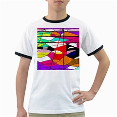 Abstract waves Ringer T-Shirts